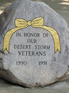 Desert Storm work executed  by past President, Peter Miller and past vice president, Smith Coleman.